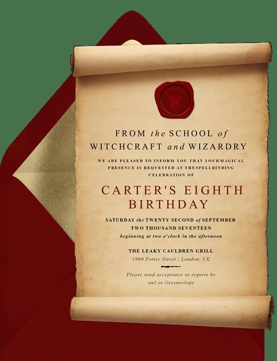 Magic Scroll Invitation