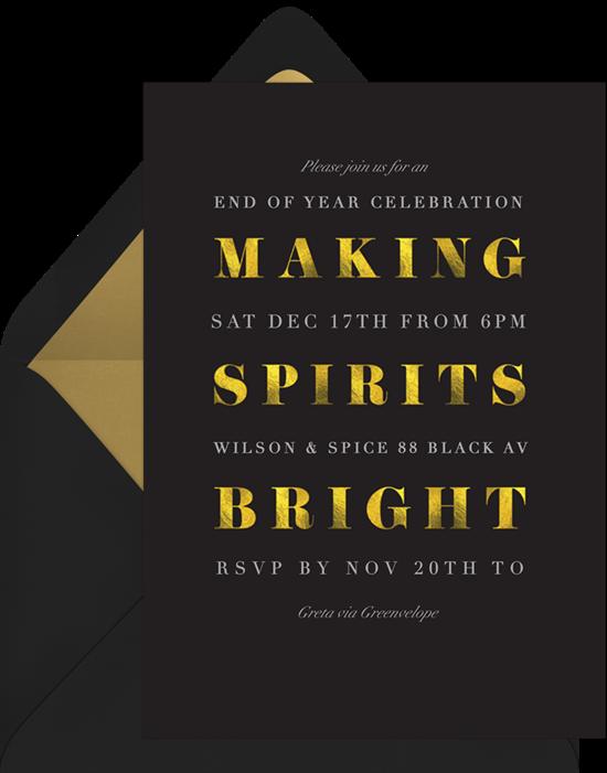 making spirits bright invitations greenvelope com