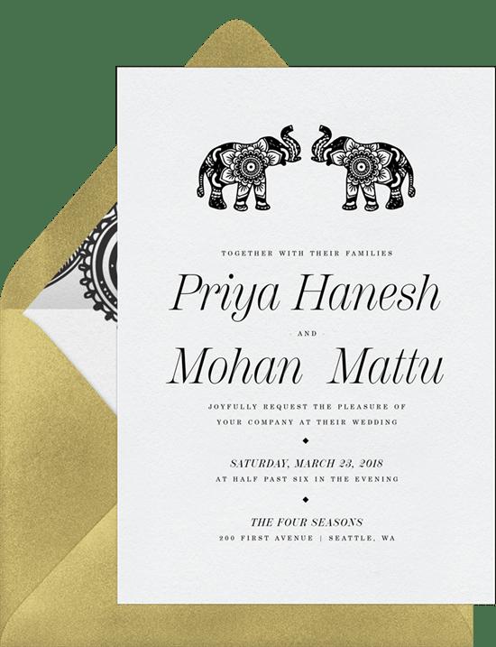 Marvelous Mehndi Invitations in White Greenvelopecom
