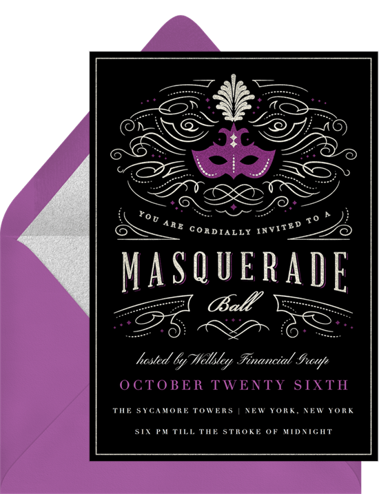 Masquerade Ball Invitations Greenvelopecom