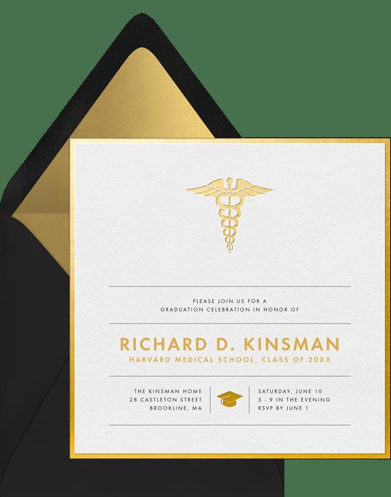 Medical Grad Invitations Greenvelope
