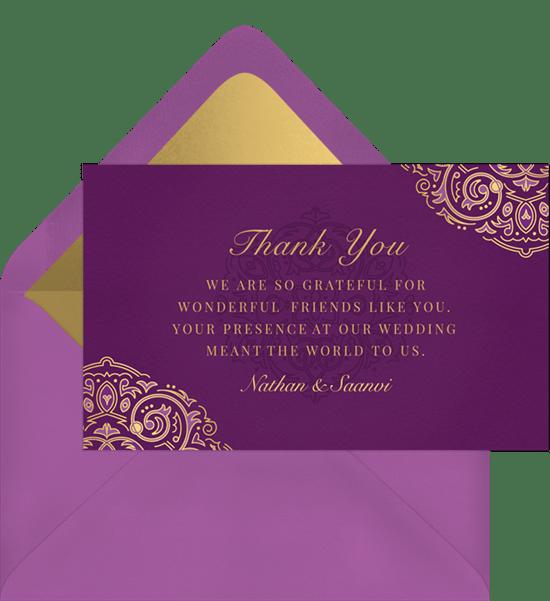 Mehndi Thank You Notes Greenvelope Com