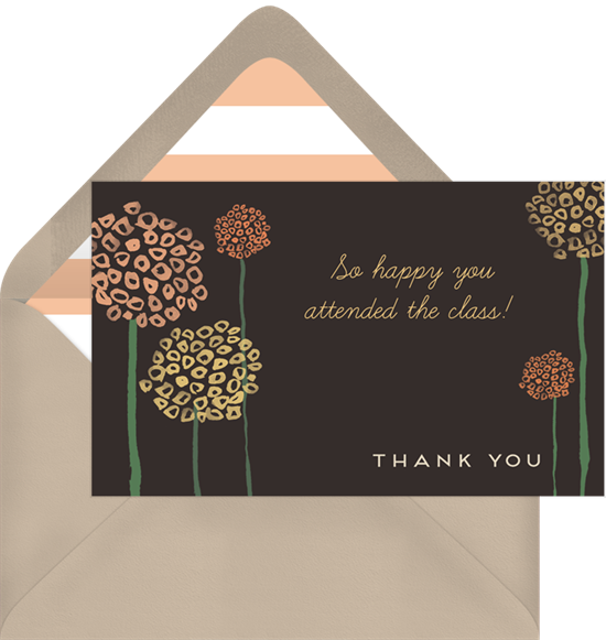 mod flowers thank you note