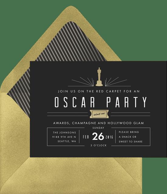 Mod Oscar Party Invitation