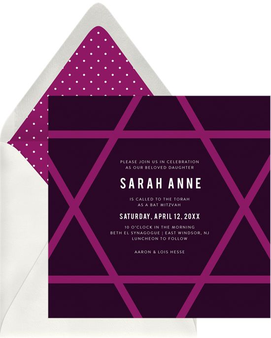 Mod Star Invitations In Purple Greenvelope Com