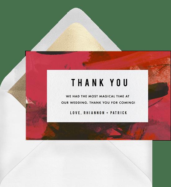 modern affair thank you notes greenvelope com