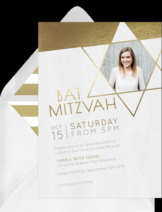 Modern Bat Mitzvah Invitation