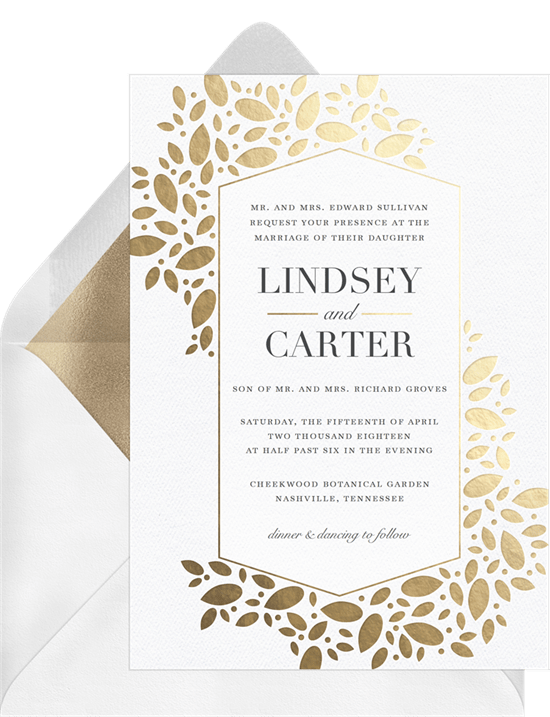 Christening invitations modern geometric leaves baptism modern geometric leaves invitation in white stopboris Gallery