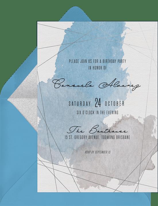 Christening invitations modern watercolor baptism greenvelope modern watercolor invitation stopboris Gallery