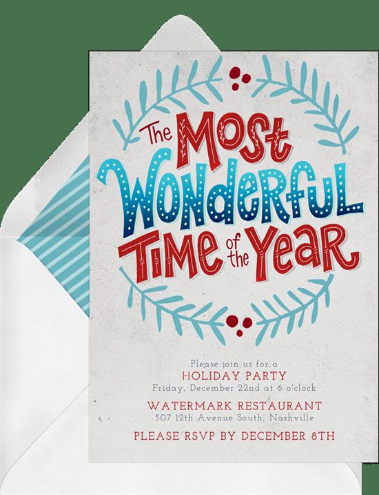 most wonderful time invitations in blue greenvelope com