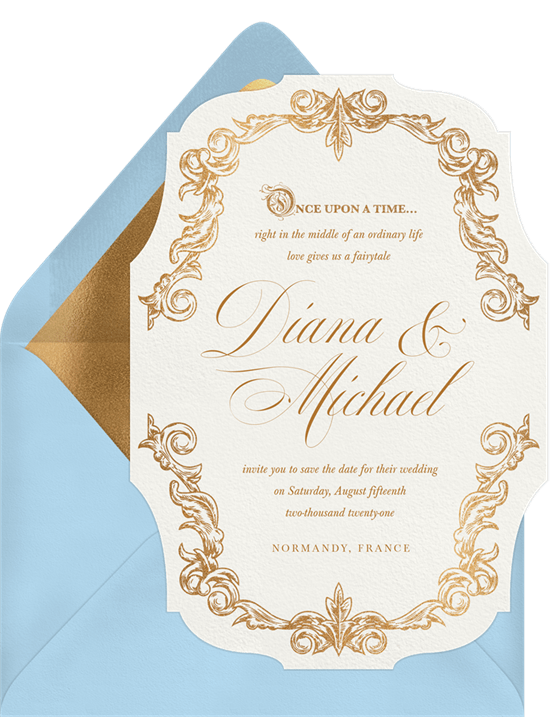 Once Upon A Time Save The Dates In Blue