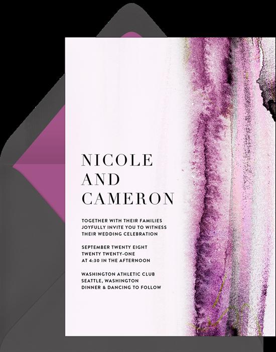 Organic texture invitations greenvelope organic texture invitation in purple stopboris Image collections