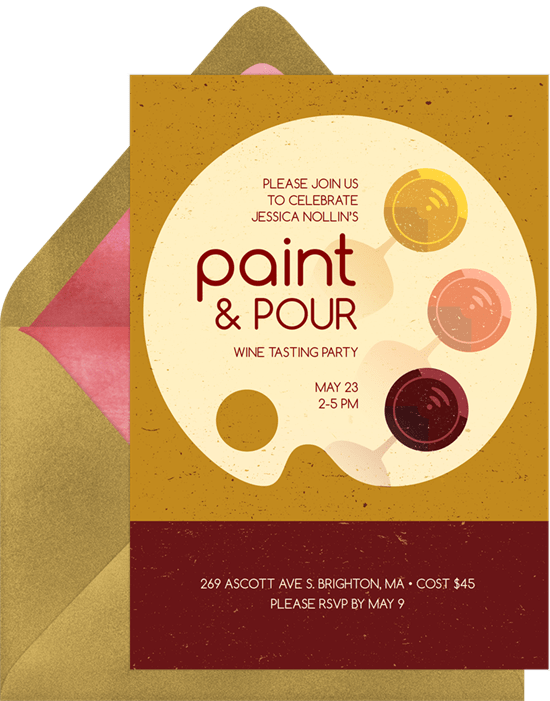 paint pour invitations in yellow greenvelope com