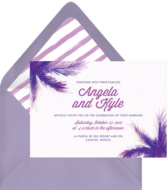 Painted Palm Invitation