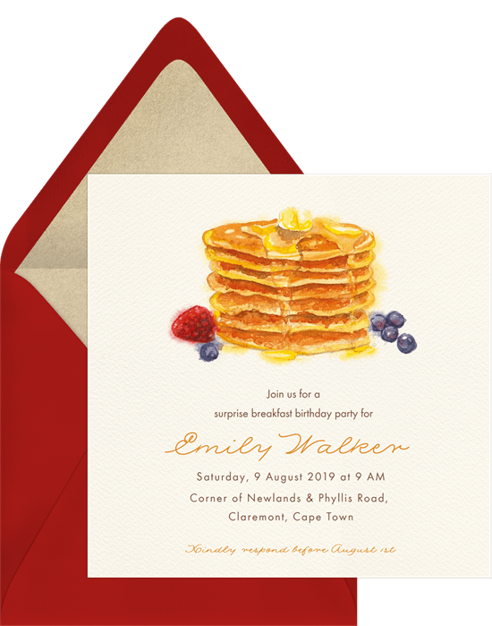 Pancake Breakfast Invitations – Pancake Party Invitations