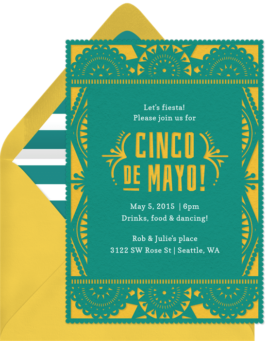 Papel Picado Invitations Greenvelope Com