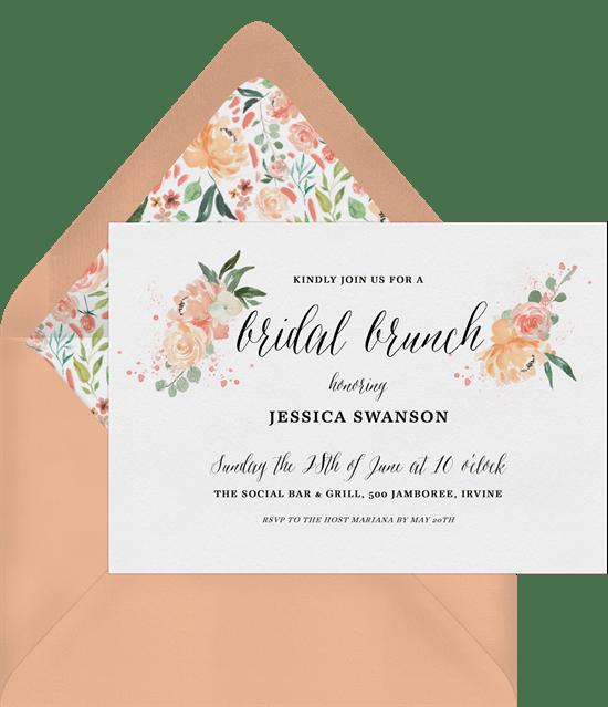 peach blooms invitations greenvelope com
