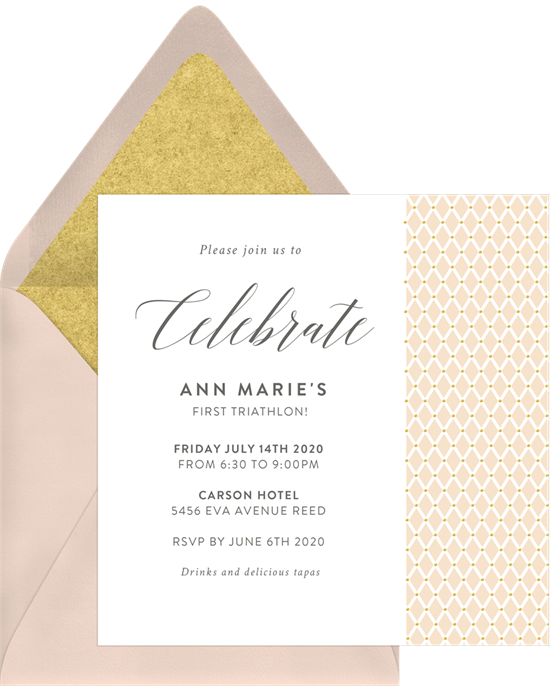 pinned ribbon invitation
