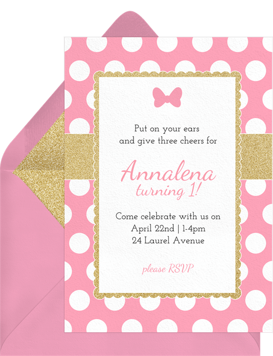 polka dot bow invitations greenvelope com