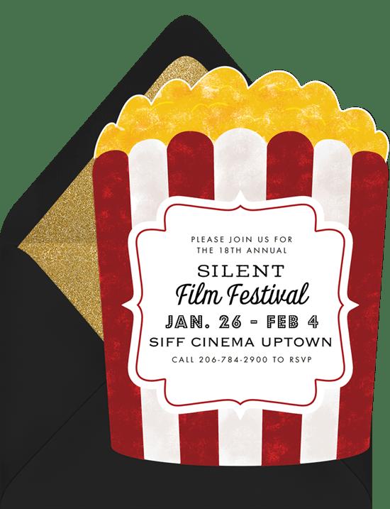 Popcorn bucket invitations greenvelope popcorn bucket invitation in red filmwisefo