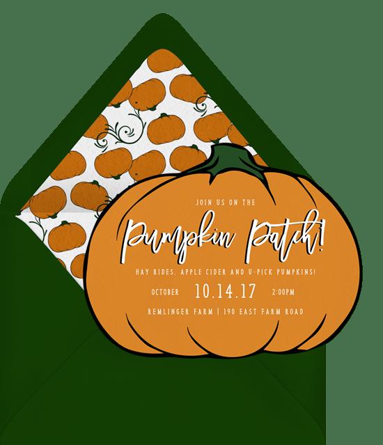 Pumpkin Patch Invitations Greenvelope Com