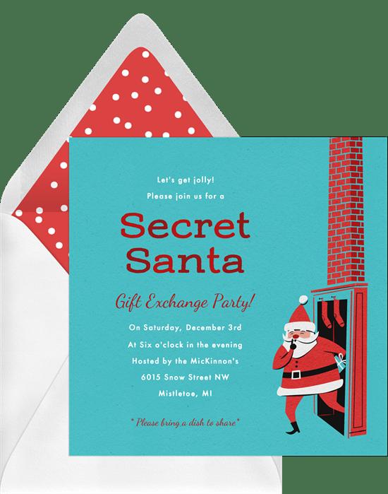 retro santa invitations greenvelope com