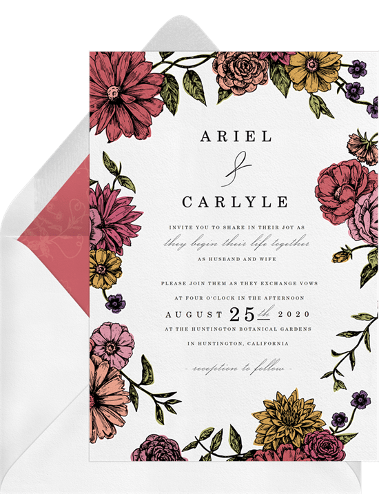 romantic floral border save the dates in red greenvelope com