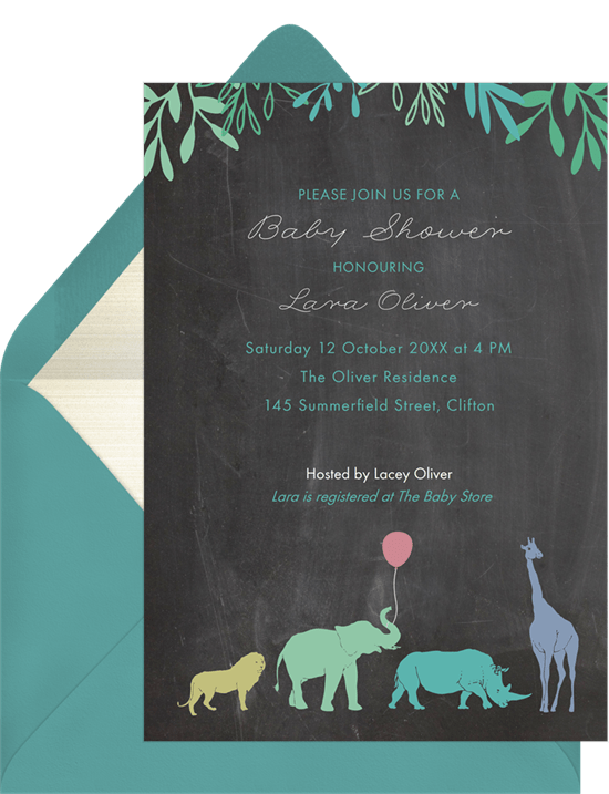 safari mama invitations greenvelope com