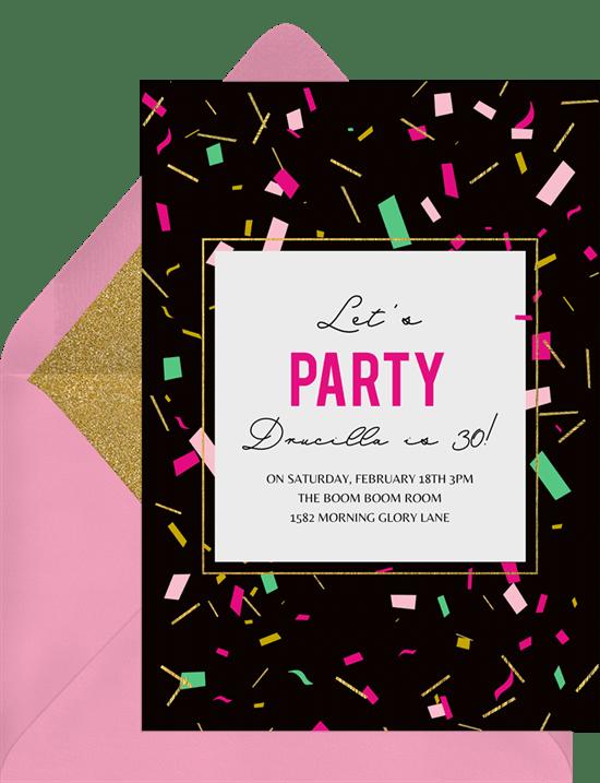 scattered confetti invitations greenvelope com