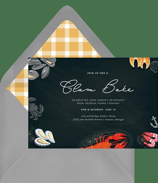 Seafood Smorgasbord Invitations