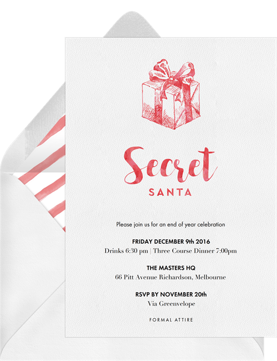 Secret Santa Invitation