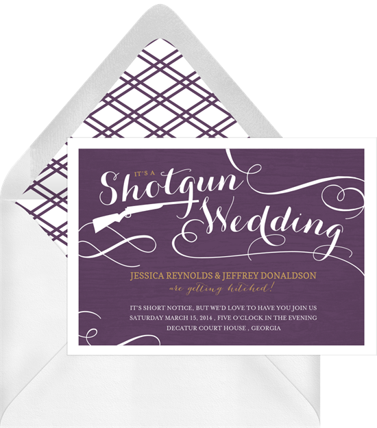 Shotgun Wedding Invitations Greenvelope Com