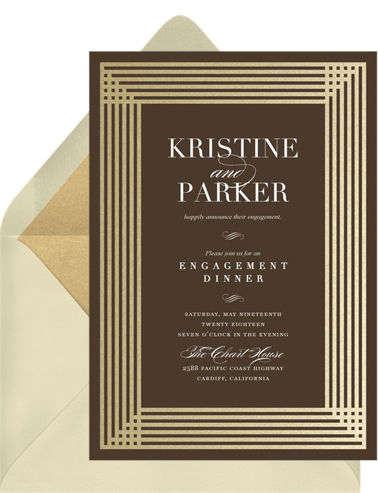 simple art deco invitations greenvelope com