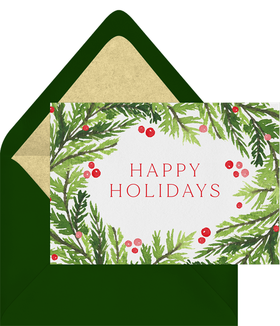 simple evergreen sprigs cards greenvelope com
