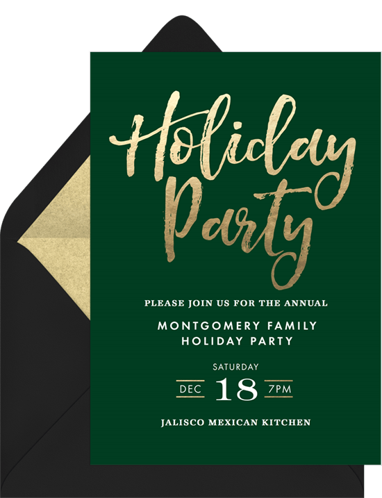 Simple Holiday Party Invitation