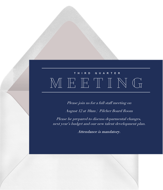 Simple meeting invitations greenvelope simple meeting invitation in blue stopboris Choice Image