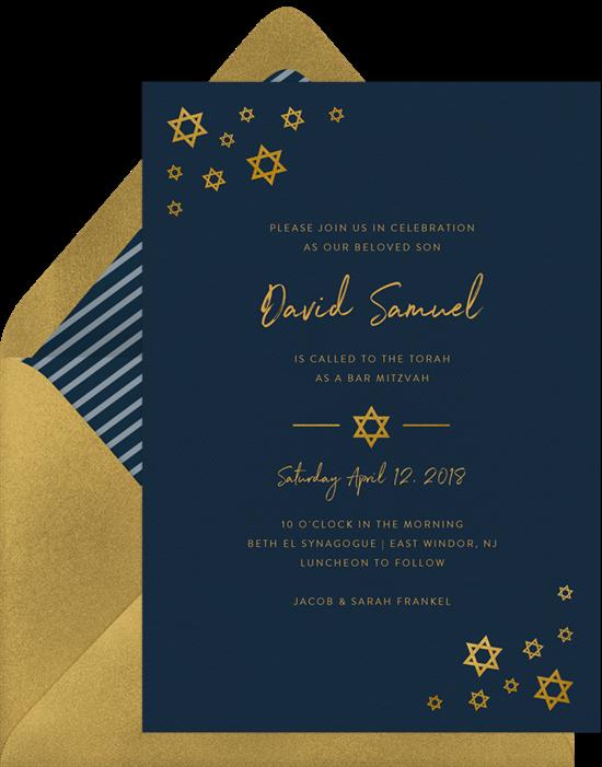 simply stars invitations in blue greenvelope com