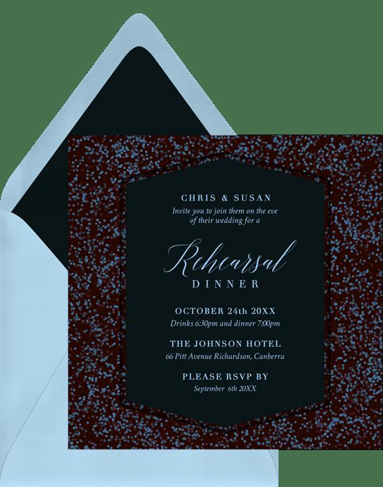 Speckled Bokeh Invitations Greenvelope Com