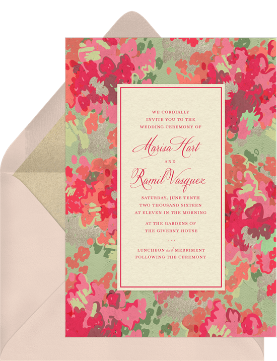 Spring Glow Invitations In Pink Greenvelope Com