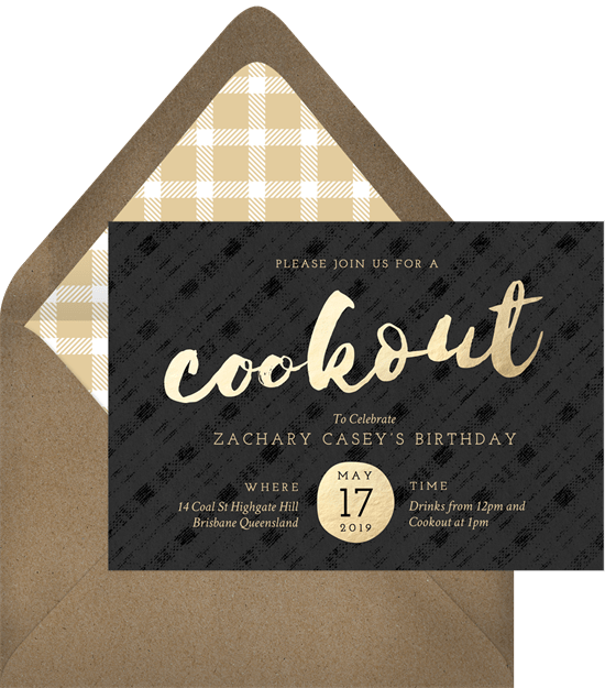 swanky cookout invitations greenvelope com