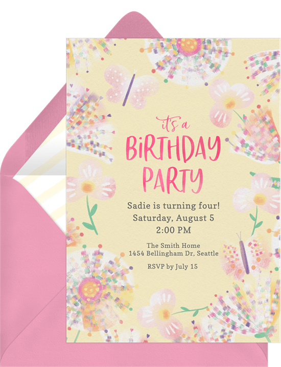 Sweet pastels invitations in yellow greenvelope sweet pastels invitation in yellow stopboris Image collections