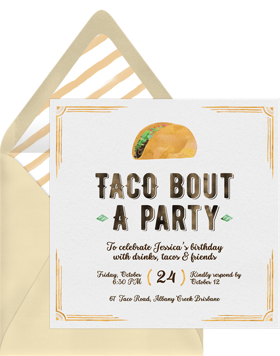 taco bout a party invitations greenvelope com
