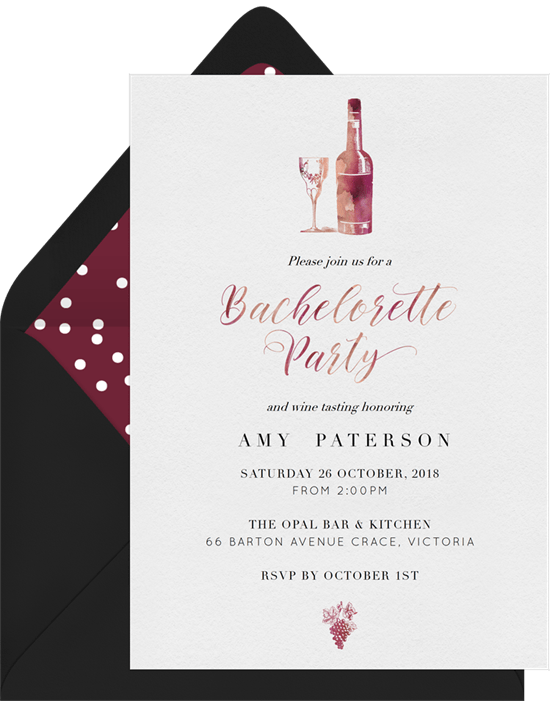 that sweet berry wine invitations in purple greenvelope com