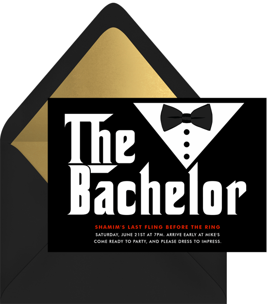 The Bachelor Invitations Greenvelopecom