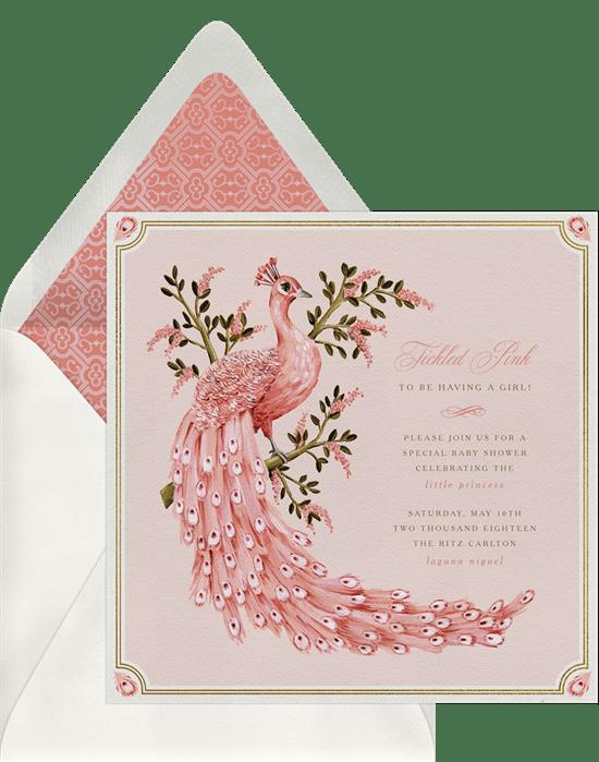 Tickled Pink Invitations In Pink Greenvelope Com