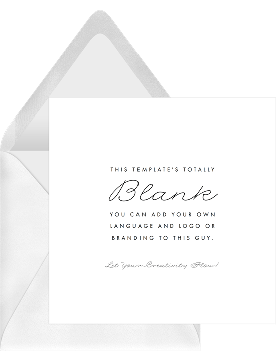 Totally Blank Invitations Greenvelopecom