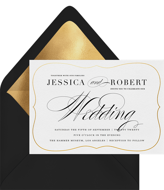 traditional calligraphy invitations in white greenvelope com