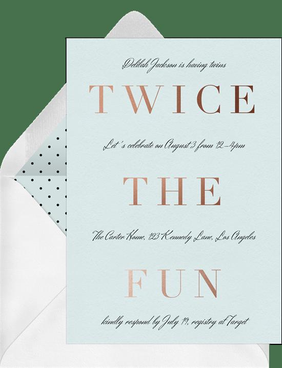 twice the fun invitations greenvelope com