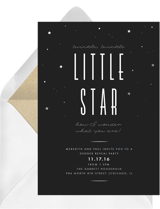 twinkle little star invitations greenvelope com