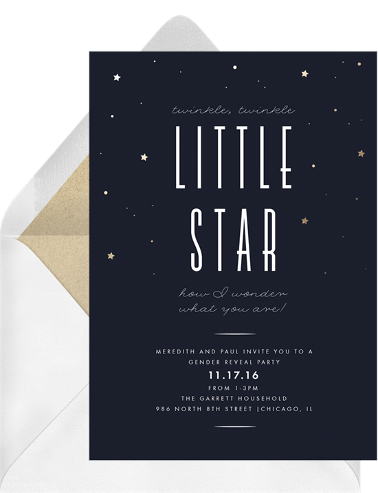 twinkle little star invitations in blue greenvelope com